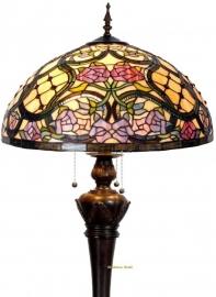 9962 9459  Vloerlamp Tiffany Ø50cm Grandiflora Bolling in de voet