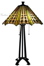 7858 Tafellamp Tiffany H75cm Ø50cm Plissé