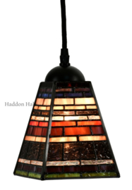 8117 Hanglamp Tiffany 13x13cm Industrial