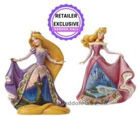 Castle Dress - Set van 2 - Rapunzel & Aurora- Jim Shore