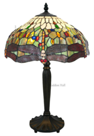 5850 Tafellamp Tiffany H60cm Ø40cm Dragonfly Multicolor