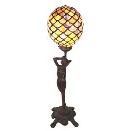 6024 Tafellamp Tiffany H51cm Ø21cm Jugendstil Dame