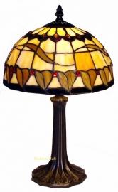5810 9022 Tafellampje Tiffany H40cm Ø25cm    Tabacco