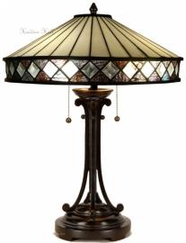 T4P40 T5477 Tafellamp Tiffany H60cm Ø40cm Fargo