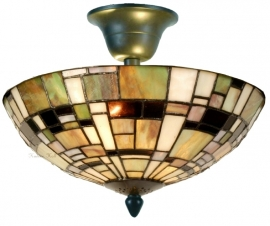 5348 96 Plafonniere Tiffany Ø30cm Art Deco Green plafondlamp