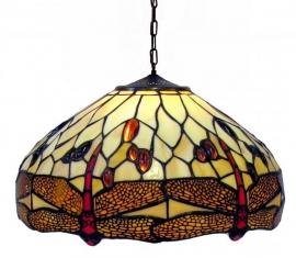 1101 Hanglamp Tiffany Ø40cm  Beige Dragonfly
