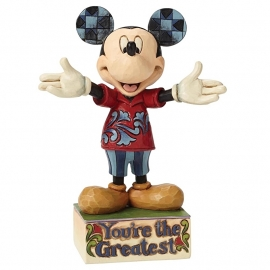 "MICKEY ""You Are The Greatest"" H15cm Jim Shore  4049637"