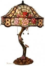 5631 Tafellamp Tiffany H67cm Ø42cm Rosalinde