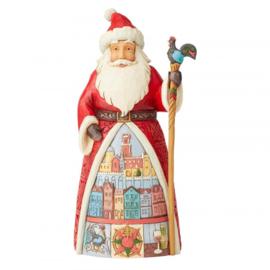 Feliz Natal H18cm Jim Shore Portuguese Santa 6004235