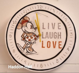 "Klok Minnie Mouse ""Live, Laugh, Love.."" Ø30cm - Disney by Egan"