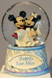 """MICKEY & MINNIE """"Hapily Ever After"""" H18cm Jim Shore Waterbal 4059185"""