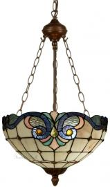 5807 8842 Hanglamp Tiffany Ø40cm Lila Rose en Blauw