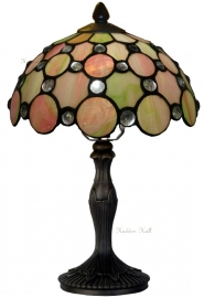 "5797 9034 Tafellamp Tiffany H37cm Ø25cm ""Pearl"""