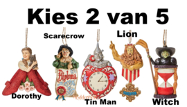 Set van 2 - Kies 2 van 5 Wizard of Oz Hanging Ornaments - Jim Shore