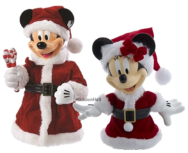 Mickey & Minnie - Set van 2 Tree Toppers H26cm