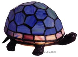 "Tiffany lamp ""Schildpad"" B22cm Blauw"