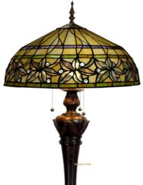 T046L 9459 Vloerlamp Bolling H164cm met Tiffany kap Ø50cm Ashtead