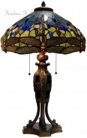 5296 Tafellamp Tiffany H64cm Ø42cm Waterjuffer