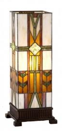 9217 Tafellamp Tiffany H44cm Windlicht model