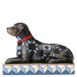 """""""Onyx"""" Zwarte Labrador H10cm Jim Shore"""
