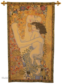 "Gustav Klimt Wandkleed + Stang ""The Ages of  Woman"" H114cm B68cm"