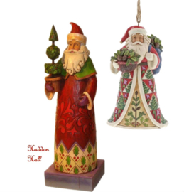 Holiday Trim  H20cm & Pinecone Santa HO Jim Shore