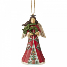 Angel with Wreath - Hanging Ornament - H12cm Jim Shore 6006681