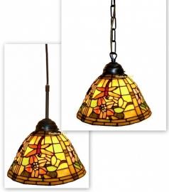 9111 Hanglamp Tiffany Ø26cm Garden Dragonfly  Ketting of textielsnoer.