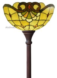 5808 Vloerlamp Uplight Bruin H184cm met Tiffany kap Ø35cm Touluse
