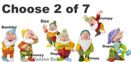 Zeven Dwergen - Kies 2 van 7 Romero Britto figurines H9cm