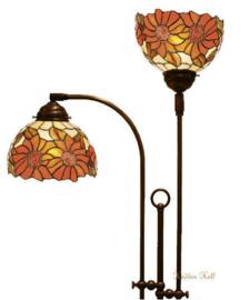 Y8327 Vloerlamp Verstelbaar met 2 Tiffany kappen Ø20cm Sunflowers