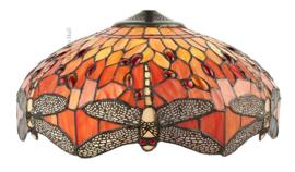 T077SH40 Kap Tiffany Ø41cm Dragonfly Flame