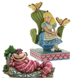 Alice & Cheshire Cat - Set van 2 Jim Shore beelden