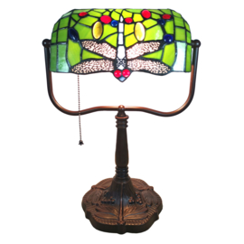 6012 Bureaulamp Tiffany Green Dragonfly