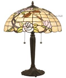 5946 Tafellamp Tiffany H2cm Ø40cm Dragonfly on Roses