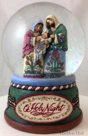 """Waterbal Holy Family"" H16cm Jim Shore 4060586"