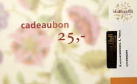 Cadeaubon €25,- Kadobon