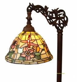 9111 9458 Vloerlamp H164cm met Tiffany kap Ø26cm  Garden Dragonfly