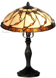 5363 9034 Tafellamp Tiffany H37cm Ø30cm  Black Butterfly
