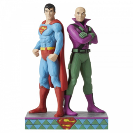Superman and Lex Luthor Figurine H22,5cm Jim Shore 6005981
