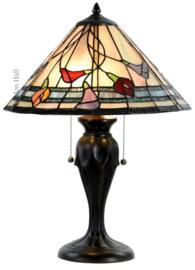 7909 Tafellamp Tiffany H58cm Ø40cm Calla
