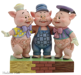 Silly Symphony - Three Little Pigs H15cm Jim Shore 6005974