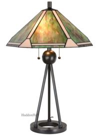 6165 Tafellamp H73cm met Tiffany kap Ø50cm Dune