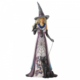 Friendly Witch with Spider Web Skirt Figurine H27cm Jim Shore 6006699