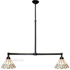 5893 Hanglamp B90cm met 2 Tiffany kappen Ø25cm Wilson