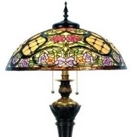 5437  Vloerlamp Tiffany Ø55cm Grandiflora Bolling in de voet