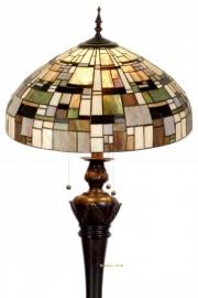 1143 9459 Vloerlamp Tiffany Ø50cm Bolling in de voet  Art Deco Green