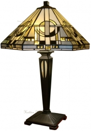 "TM25 FB20M Tafellamp Tiffany H54cm Ø42cm ""Metropolitan"""
