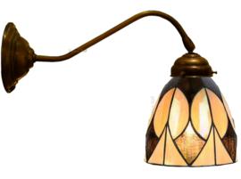8118 Wandlamp met Tiffany kap Ø13cm Parabola