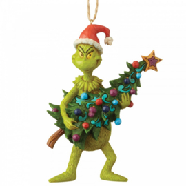 Grinch Holding Tree - Hanging Ornament - H12,5cm Jim Shore 6004069